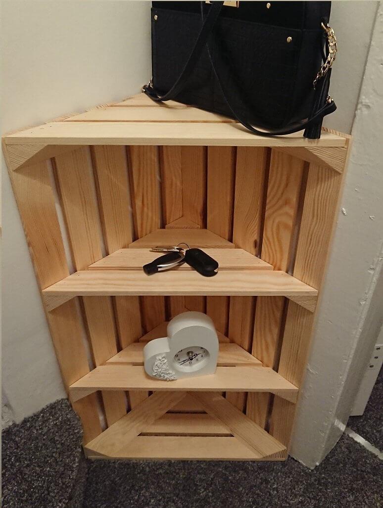 Fun and Crafty DIY Corner Shelf Idea