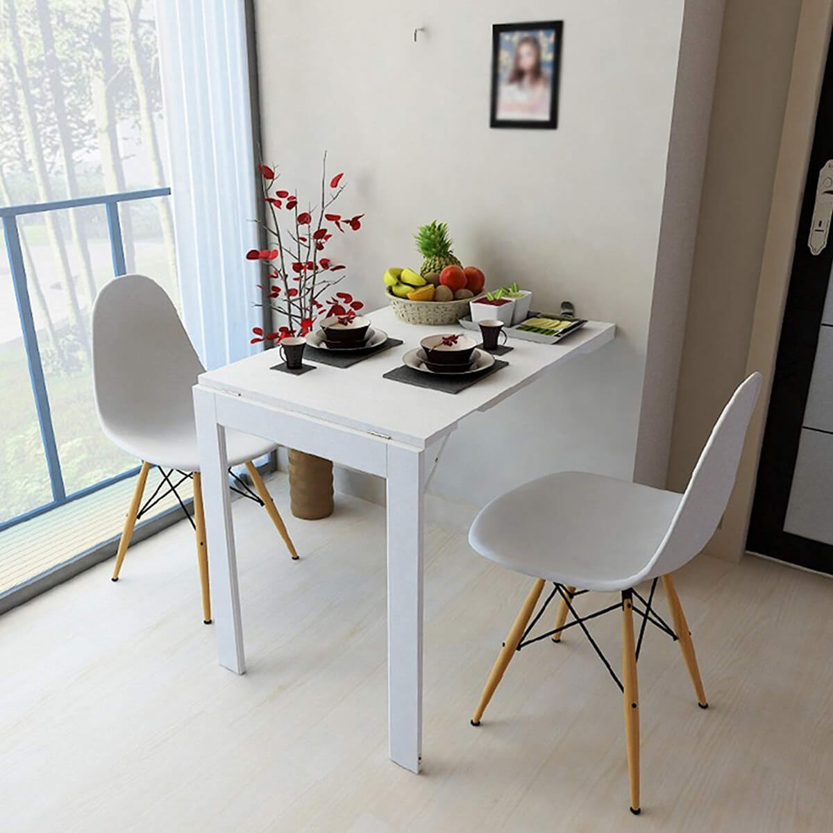 Double Sided Folding Wall Table