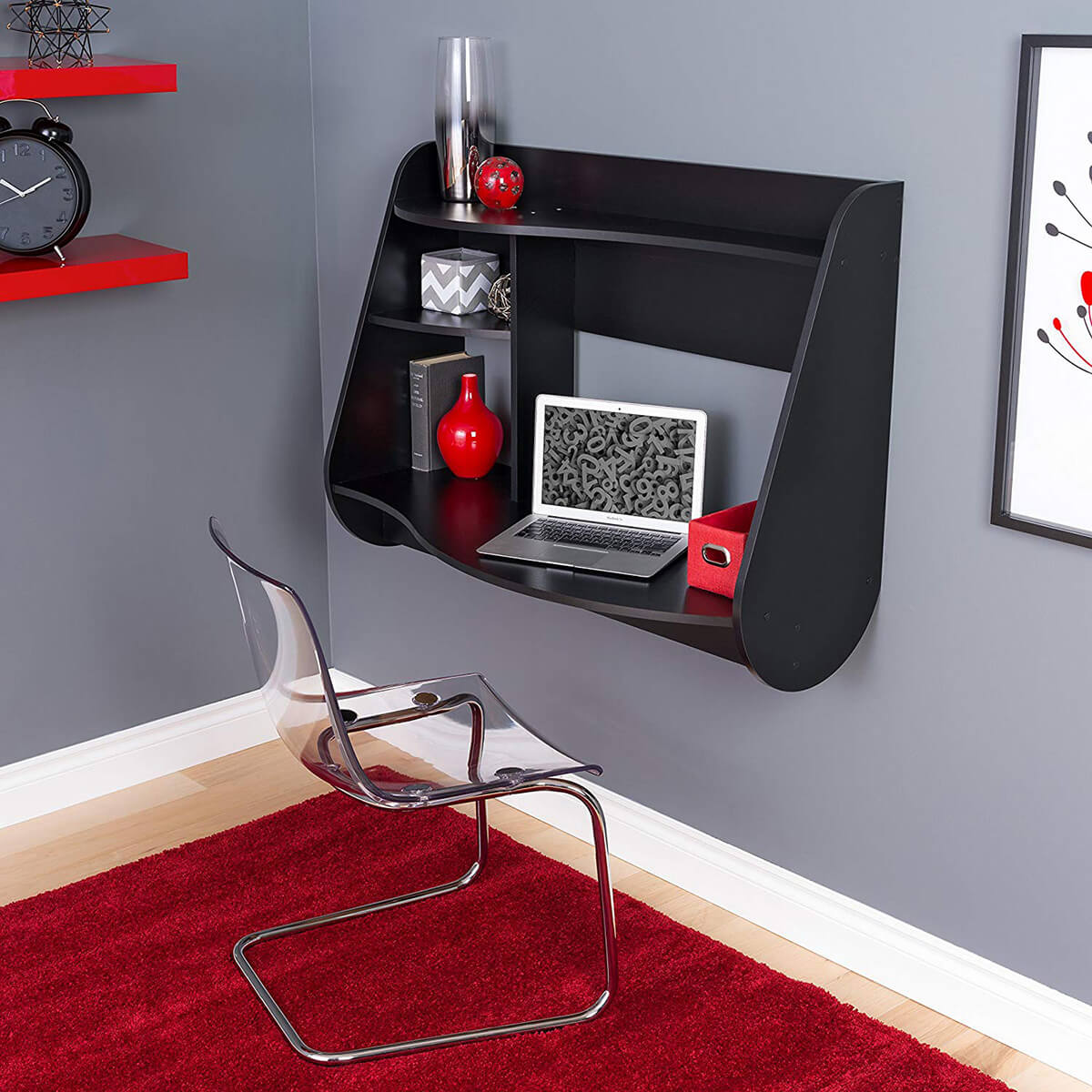 Awesome Idea for a Contemporary Wall Desk