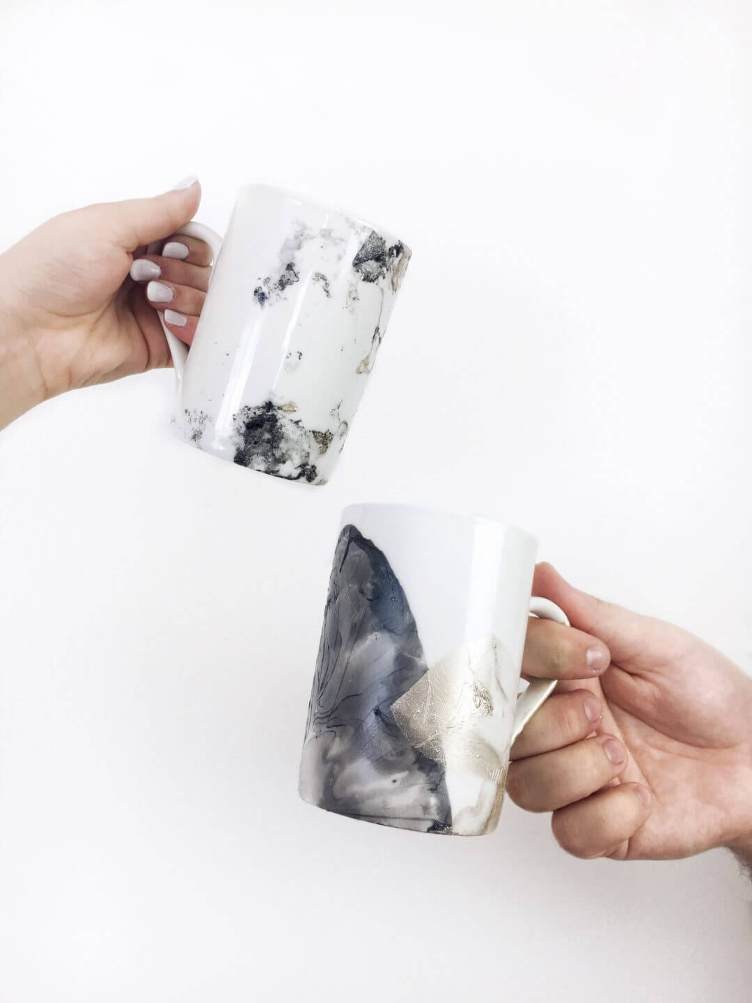 Absolutely Gorgeous DIY Marbled Mug
