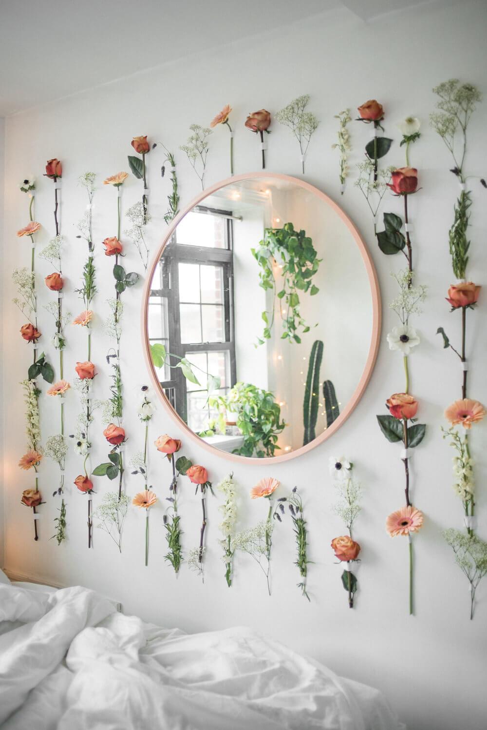 33 best bedroom flower garland ideas