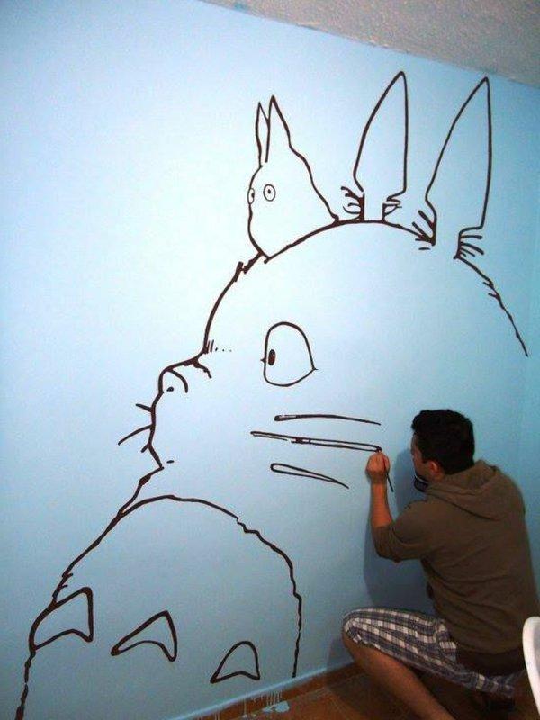нормальные рисунки которые можно нарисовать на стене в комнате чтобы зря