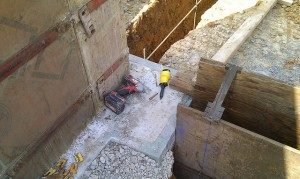 form-a-drain for basement waterproofing of a new home