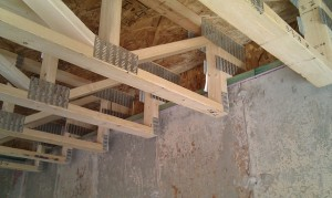 installing a new home sill plate and floor truss system