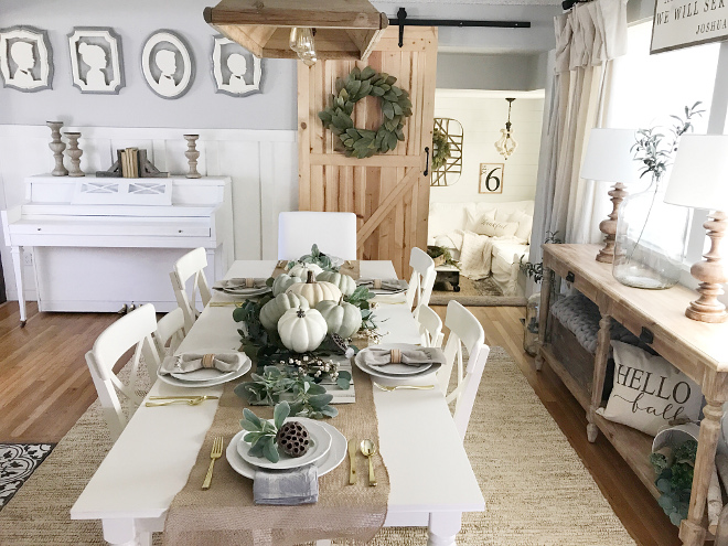 Farmhouse Dining Room Fall Decor Ideas
