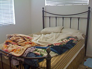 Simi Valley Real Estate Home Staging bedroom mess