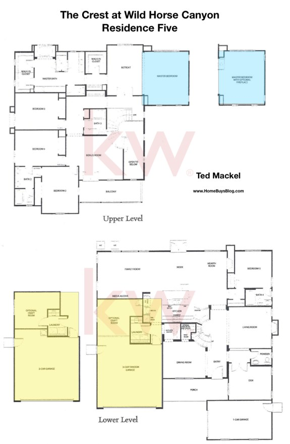 The Crest at Wild Horse Canyon Plan 5 Floor Plan
