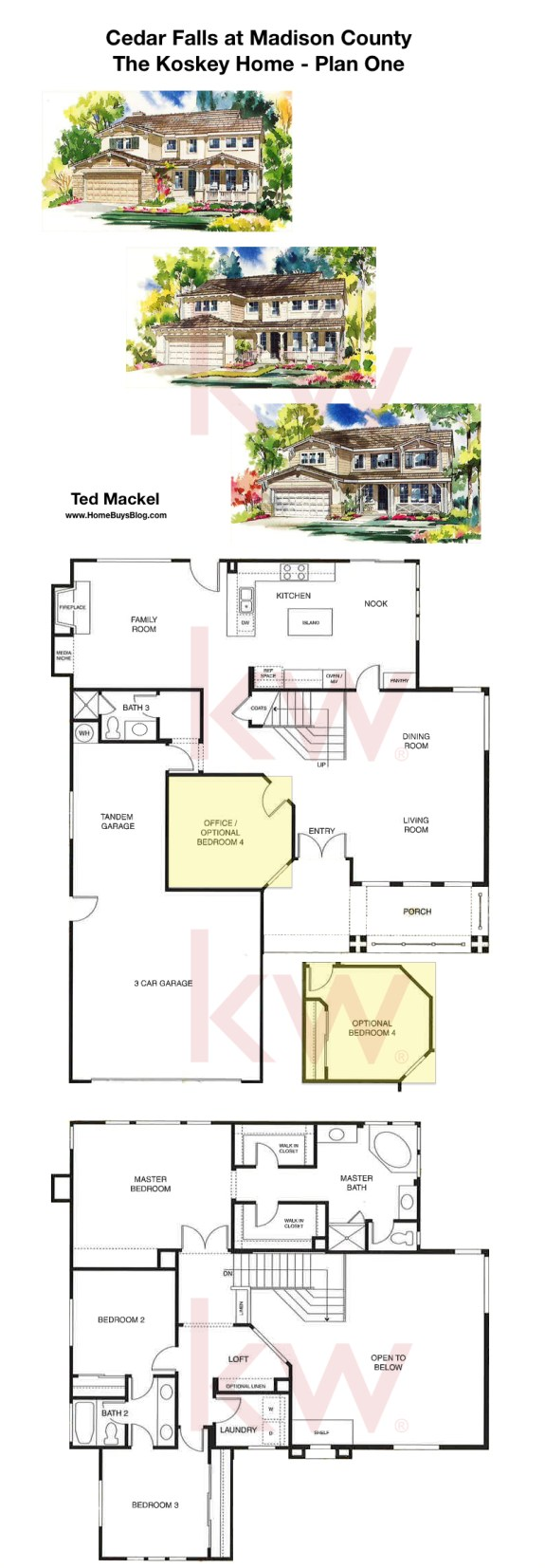 Cedar Falls Madison County Simi Valley Koskey Home Plan 1 Floor Plans Simi Valley