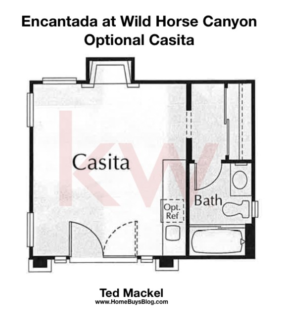 Encantada at Wild Horse Canyon Floor Plan Optional Casitas
