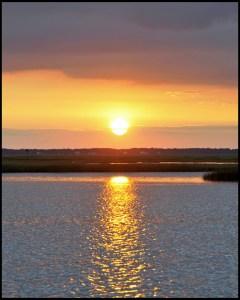 Sunset from marshlands