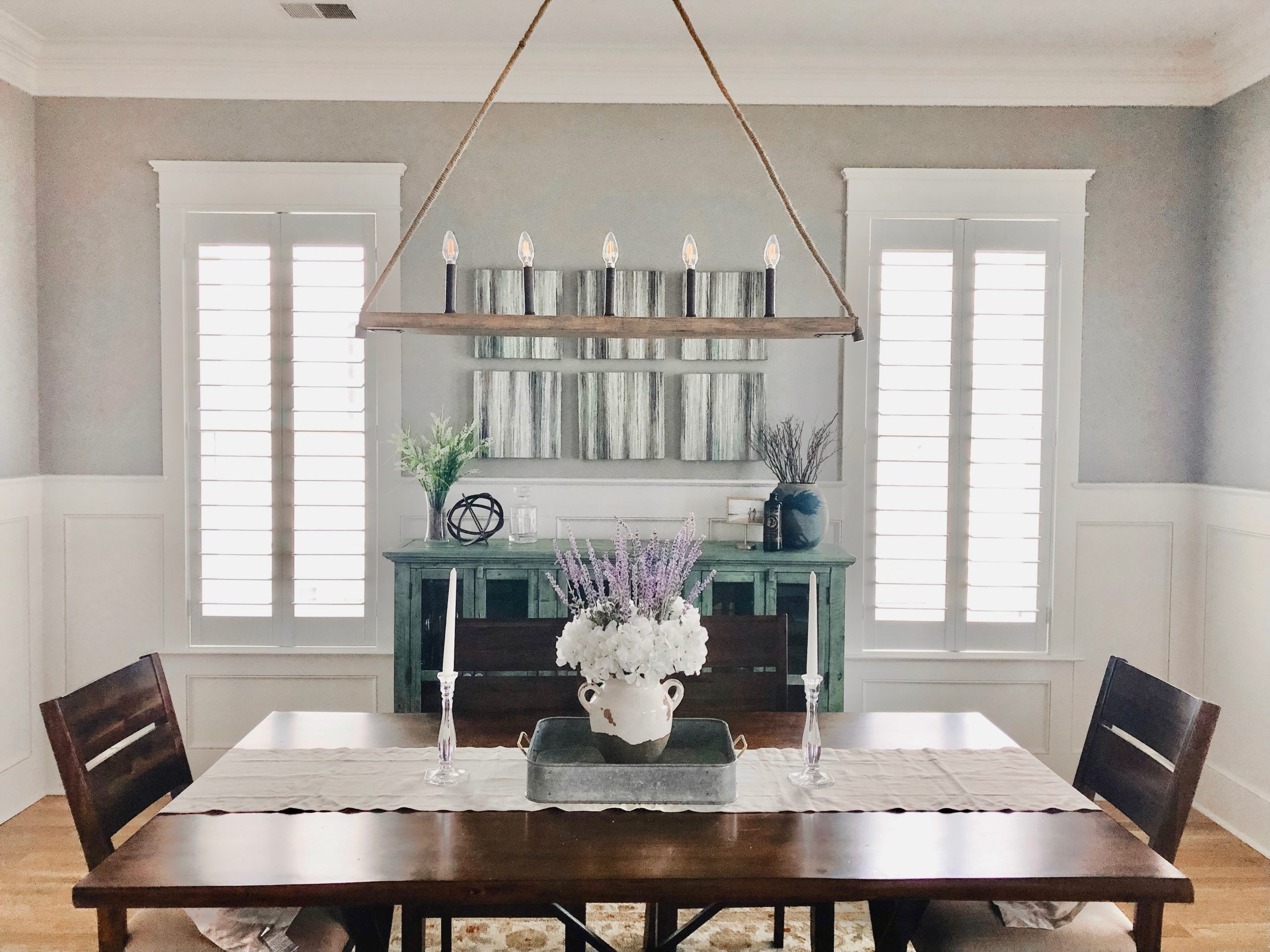 How To Decorate A Dining Room Buffet Table Home By Kmb