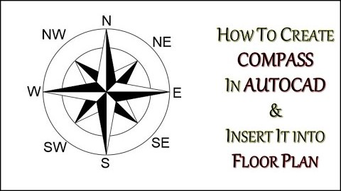 How To Create Compass In Autocad Home Cad