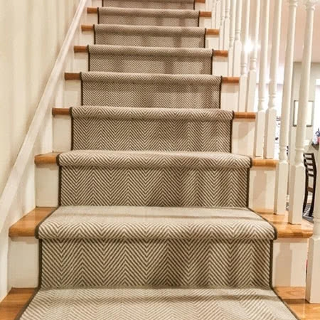 Stair Runners Home Carpet One Chicago   Wool Carpet Runners For Stairs   Flooring   Woven   Rectangular Cord Treads   Stair Country Style   Modern