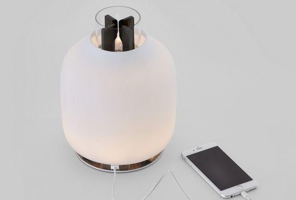 Candela lamp generates electricity  (1)