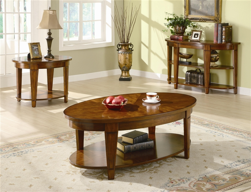 Oval Lift Top Coffee Table In Cherry Finish By Coaster