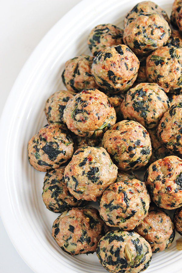 Meatball Recipes Turkey Meatballs with Spinach Healthy Dinner Recipe