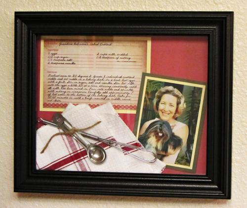 DIY Family Recipe Shadowbox Frame Home Cooking Memories