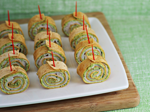 Ham And Cheese Tortilla Pinwheels