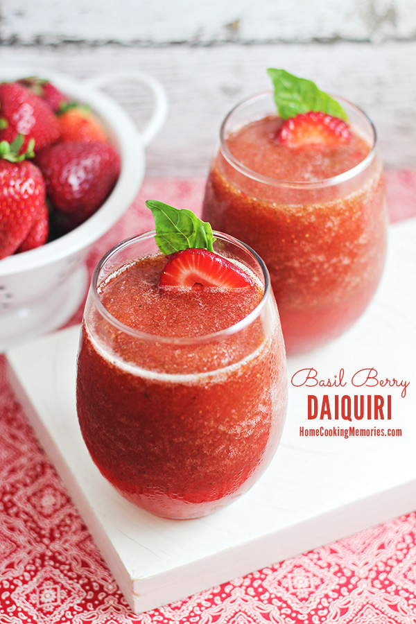 Basil Berry Daiquiri Cocktail Recipe