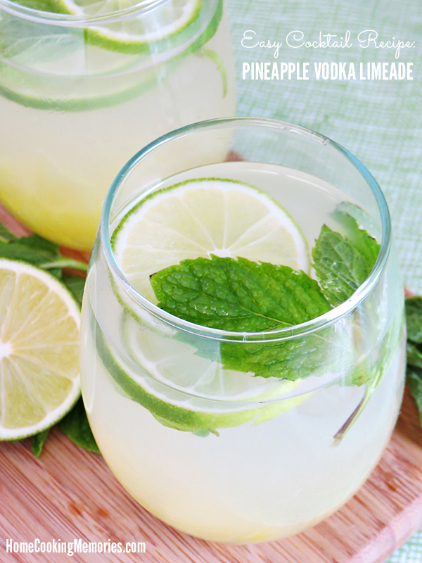 Make this Pinnacle® Pineapple Vodka Limeade recipe to enjoy this week. It's an refreshing, easy cocktail recipe that is perfect for summer.