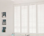 square bathroom shutters