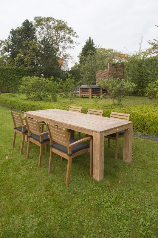 teak outdoor table and chairs