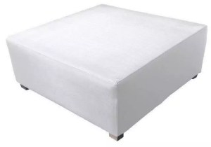 white silvertex footstool