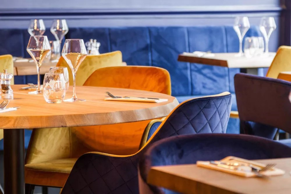 french contemporary restaurant armchairs