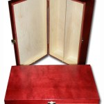 Lacquered Wooden Wine Box / Wine Case/ Gift Box with Hinges- 2 bottles