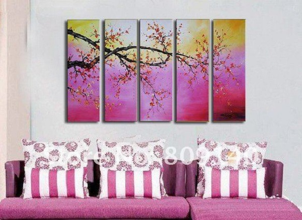 free-shipping-abstract-painting-scenery-purple-oil-painting-canvas-hand-painted-home-decor-hotel-decor-wall