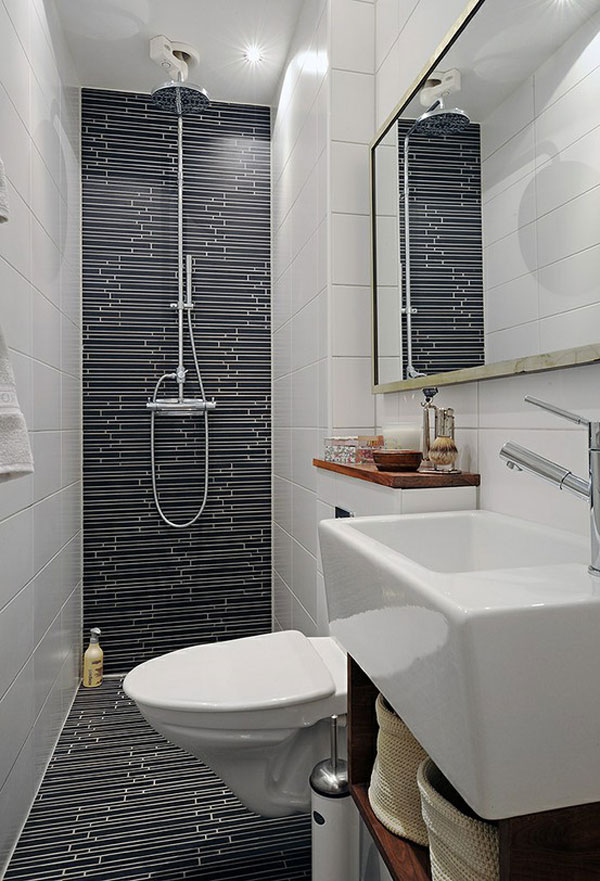 Black Tile Bathroom Ideas Wall Mirror Stunning Small Bathroom Design