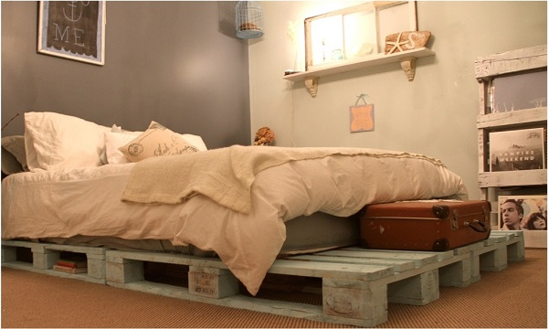 diy bedroom pallet bed frame