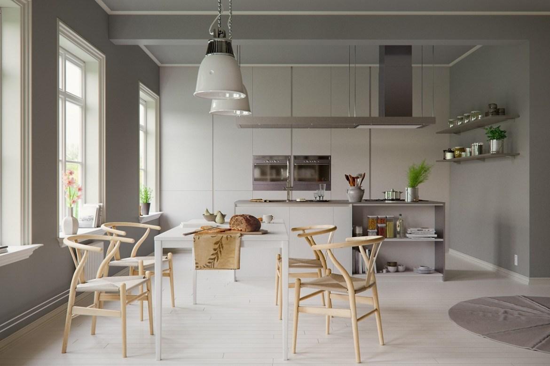 grayscale-scandinavian-dining-room