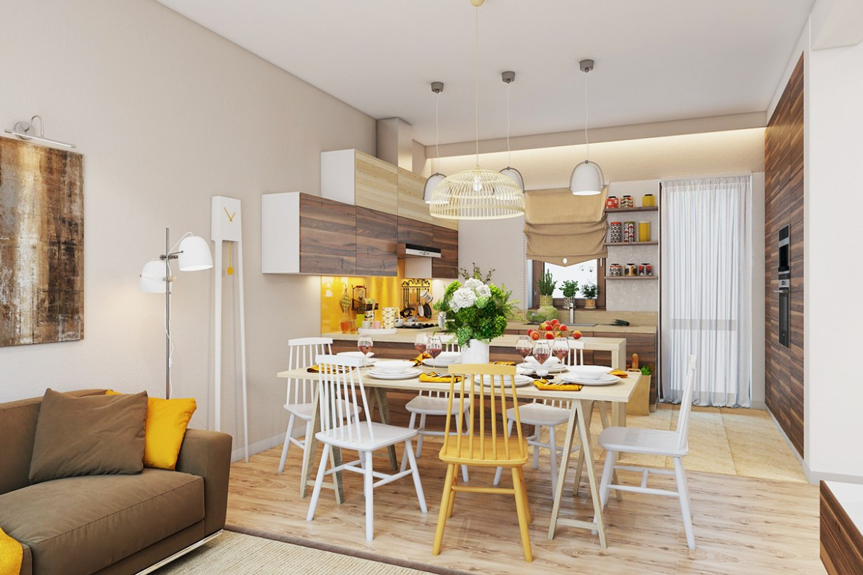 yellow-and-white-scandinavian-dining-decor