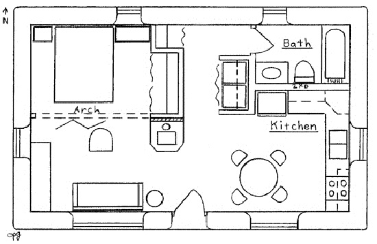 Small House With One Bedroom Plans | Savae.org