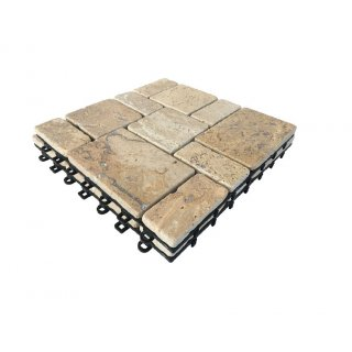 Bodenmax Pack De 2 Dalles Clipsables En Travertin 30x30x2 5cm Dalle 28 71