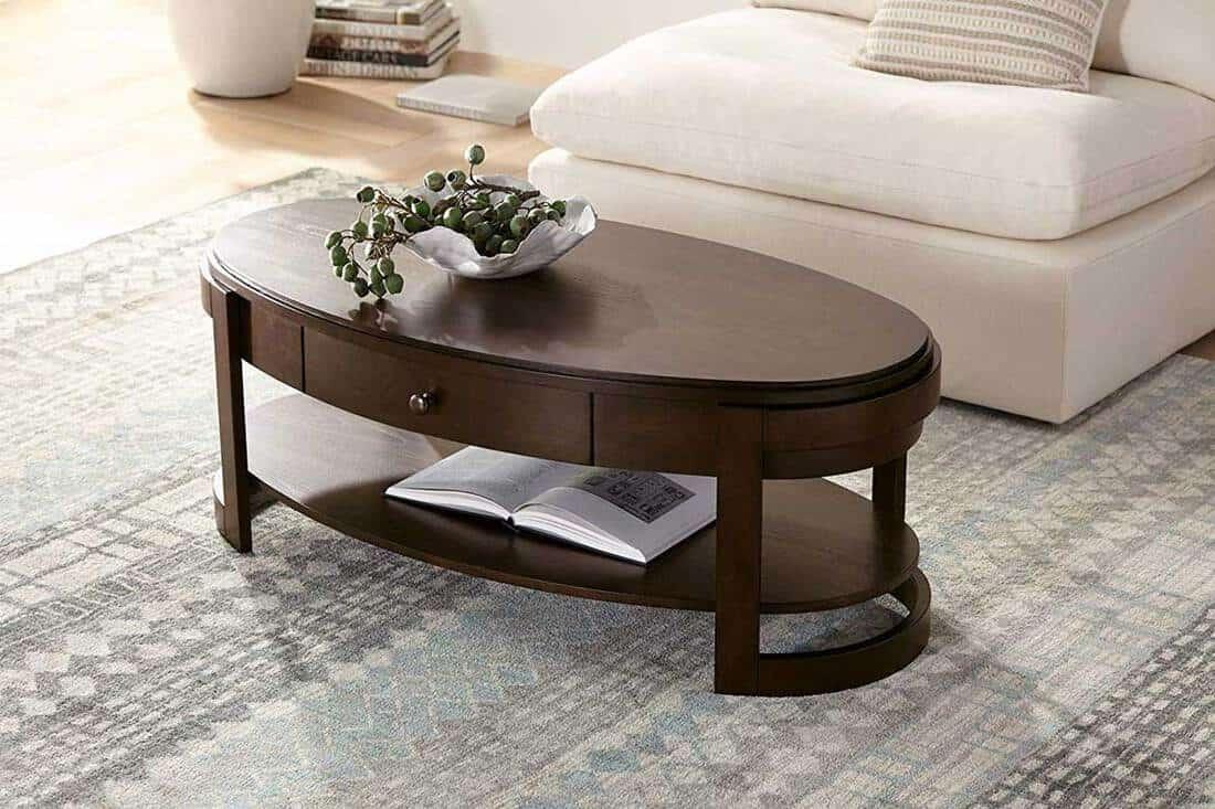 18 traditional dark wood coffee tables