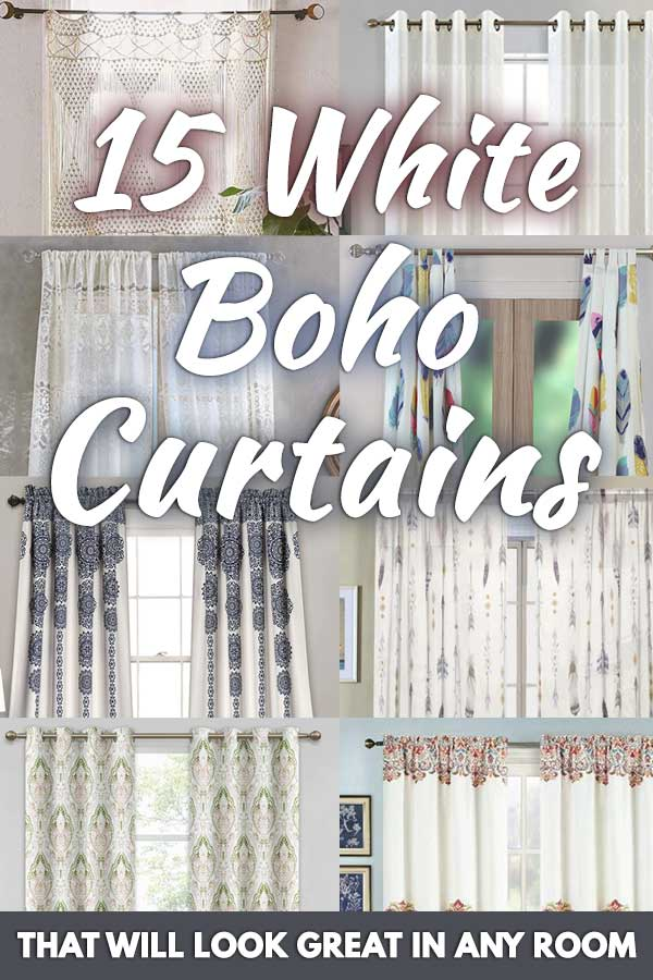 15 white boho curtains that will look