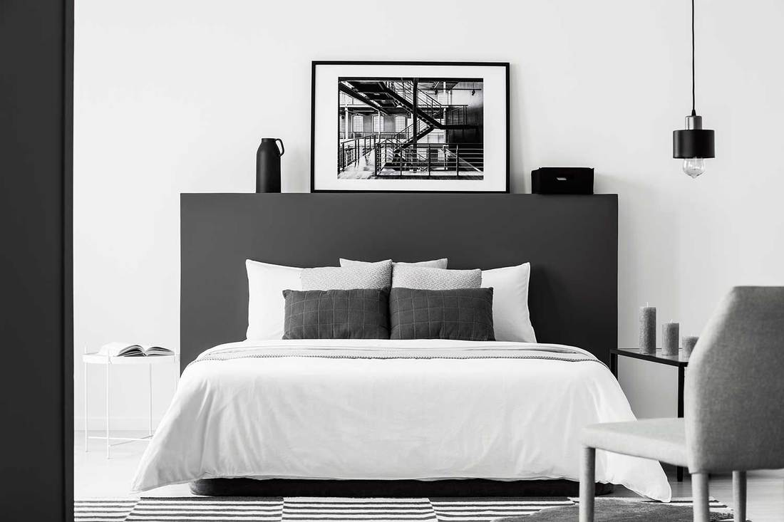 123 black and white bedroom ideas