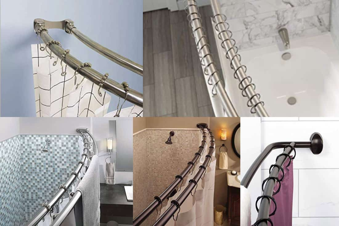 10 double shower curtain rods you