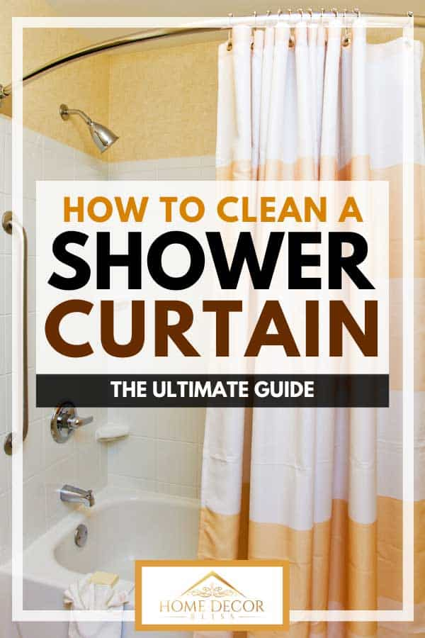 how to clean a shower curtain the