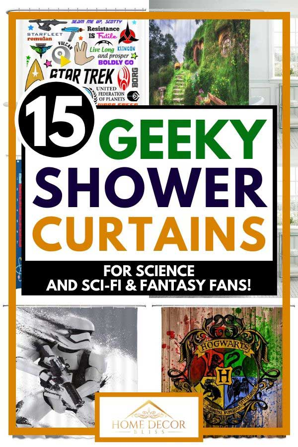 15 geeky shower curtains for science