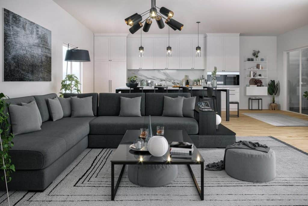 what pillows go with a gray sofa 31