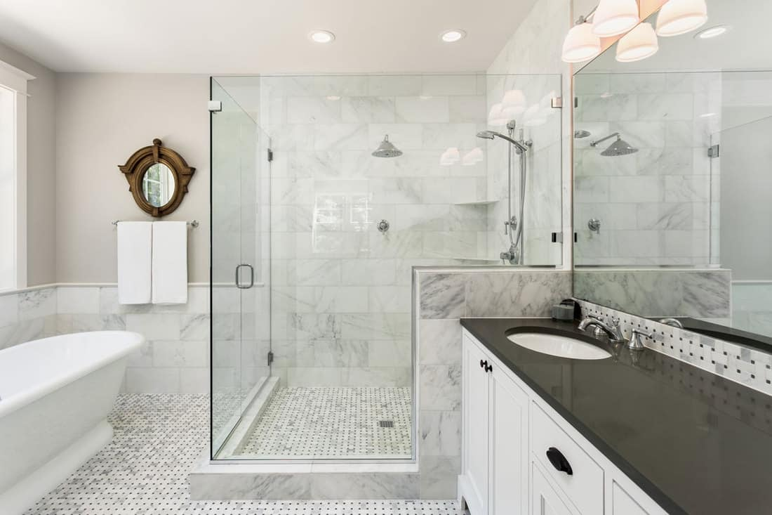 does bathroom floor tile have to match