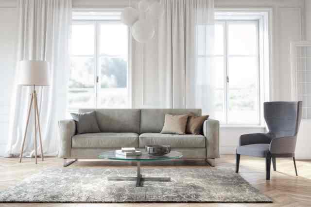 Modern İskandinav oturma odası iç