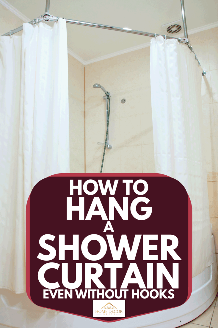 how to hang a shower curtain even