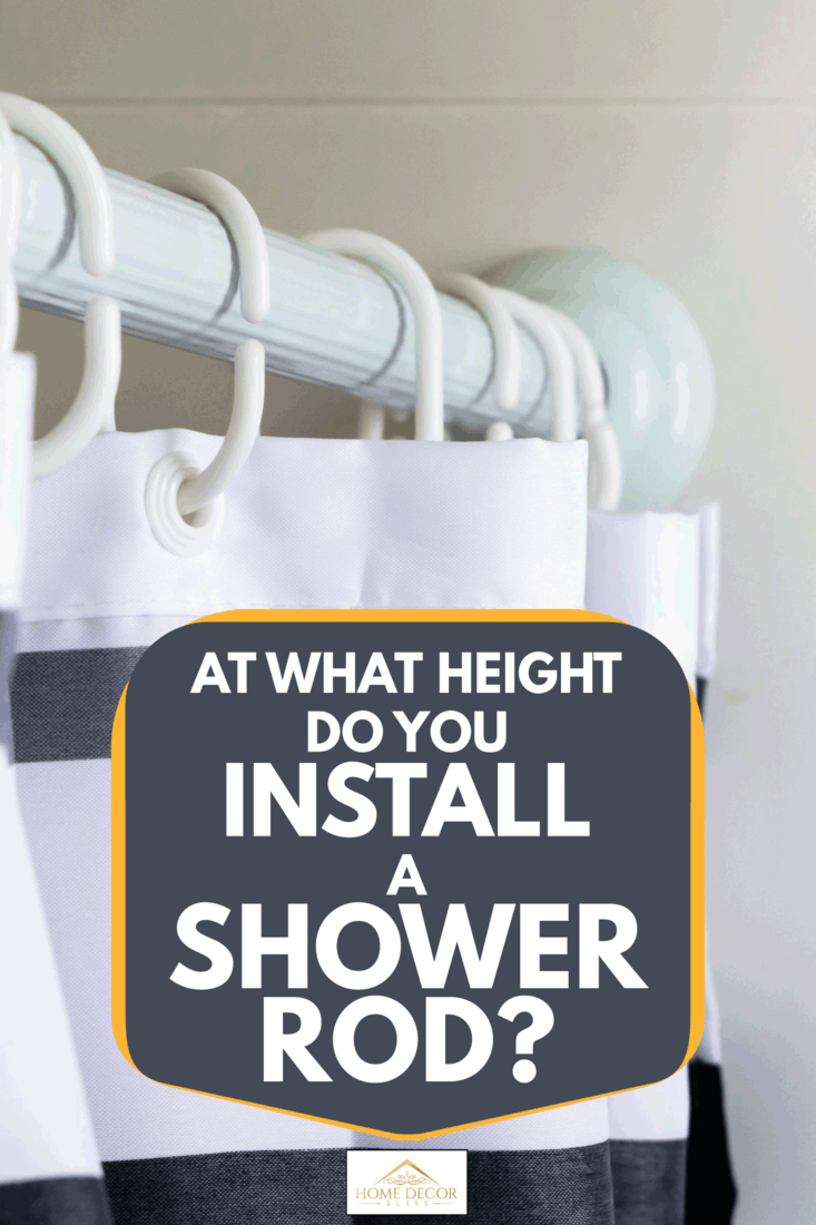 what height do you install a shower rod