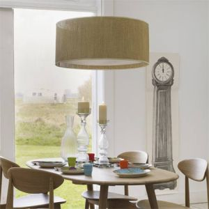Above your Dining Table – Drum Pendants