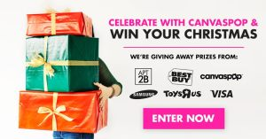 Win Your Christmas Sponsored By CanvasPop