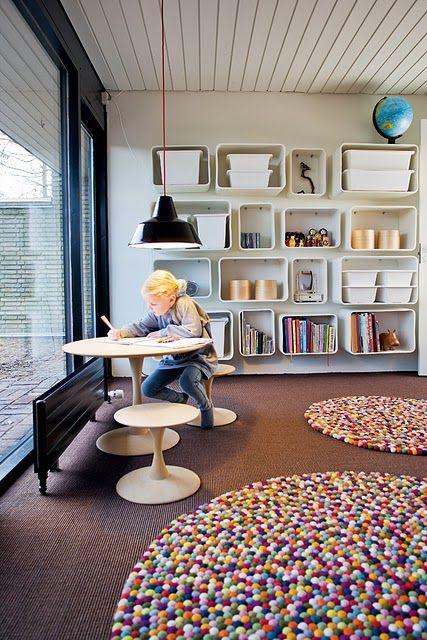 Storage Area And Study Room: Homeschool Study Room Inspirations